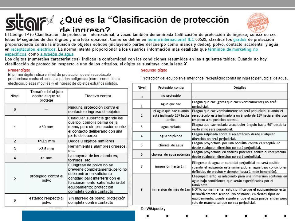 ¿Qué es la Clasificación de protección de ingreso