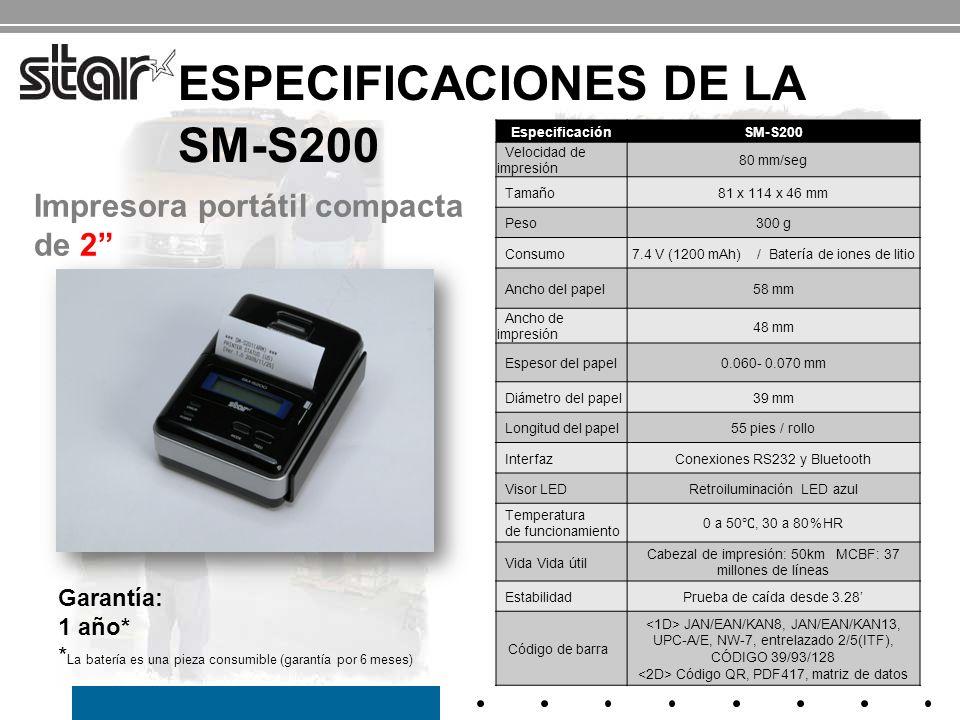 Especificaciones de la SM-S200
