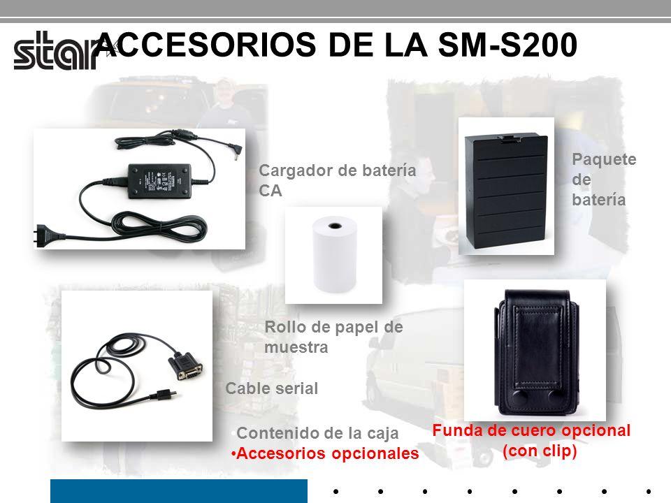 ACCESORIOS DE LA SM-S200 Paquete de Cargador de batería CA batería