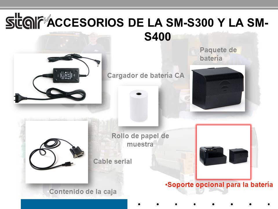 ACCESORIOS DE LA SM-S300 Y LA SM-S400