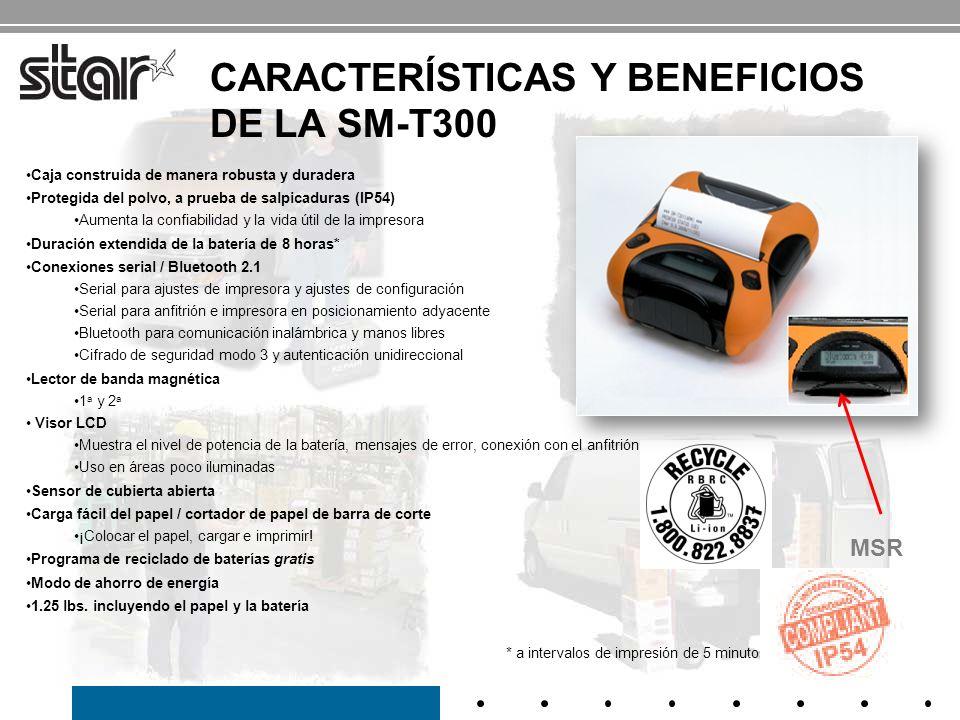 Características y beneficios de la SM-T300