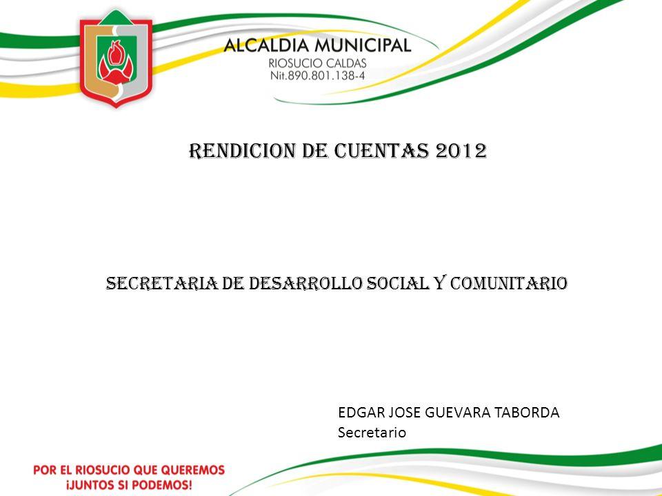 SECRETARIA DE DESARROLLO SOCIAL Y COMUNITARIO
