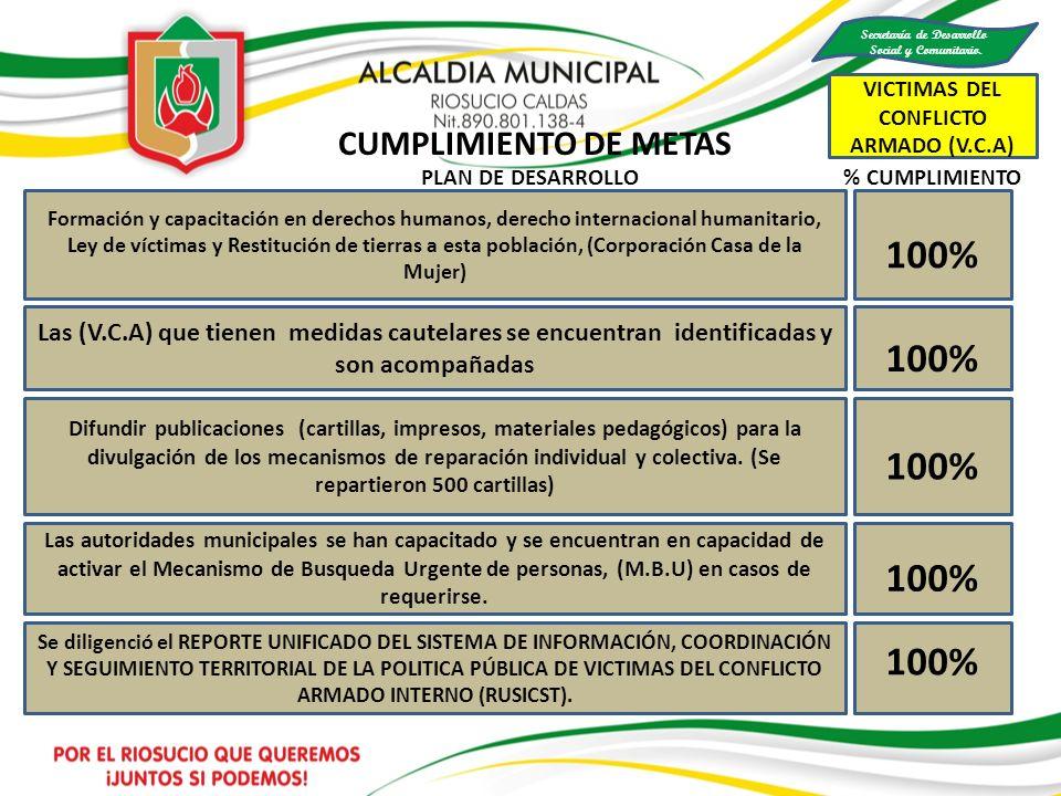 Secretaría de Desarrollo VICTIMAS DEL CONFLICTO ARMADO (V.C.A)