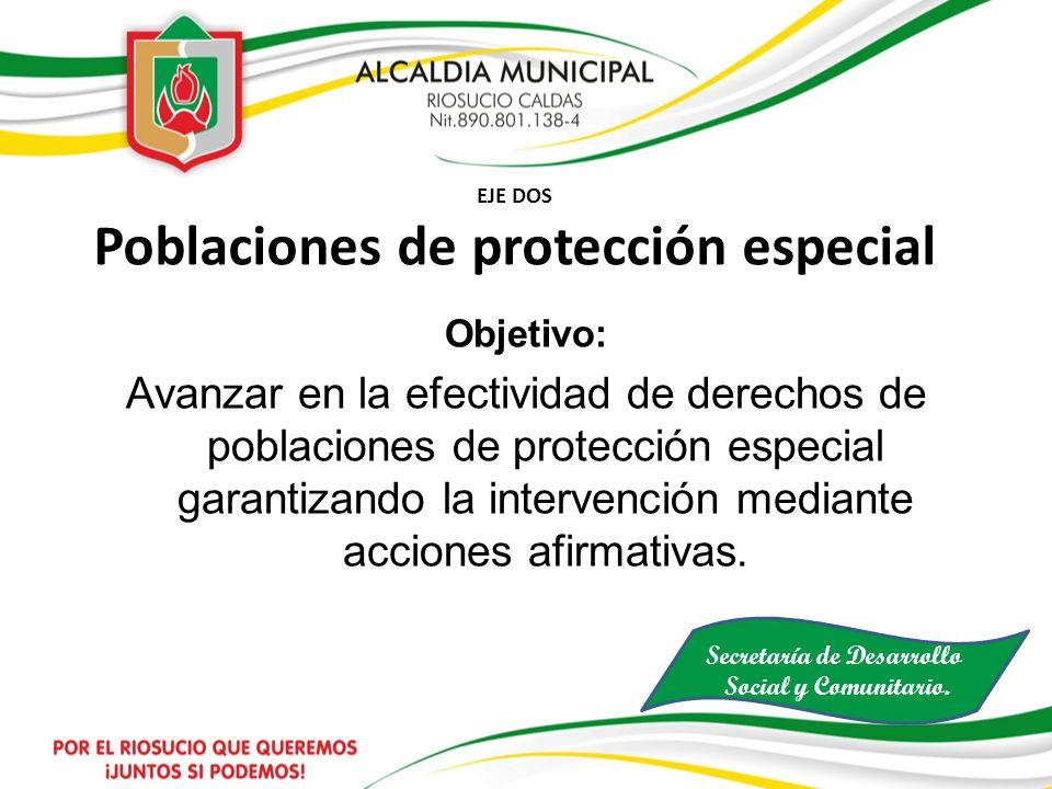 EJE DOS Poblaciones de protección especial