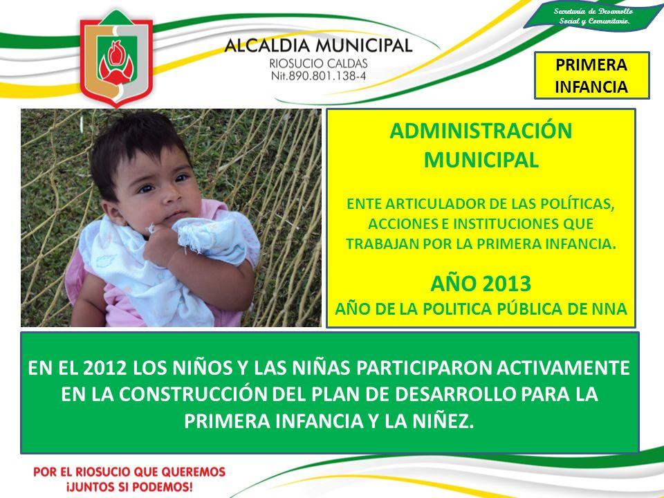 Secretaría de Desarrollo AÑO DE LA POLITICA PÚBLICA DE NNA