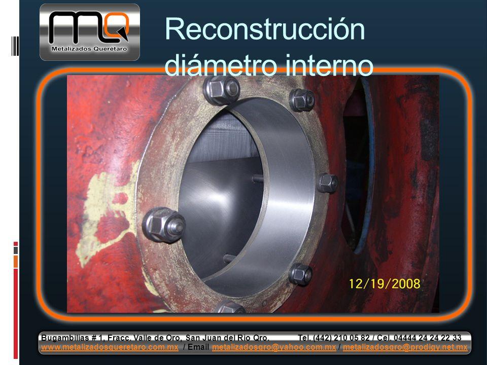 Reconstrucción diámetro interno