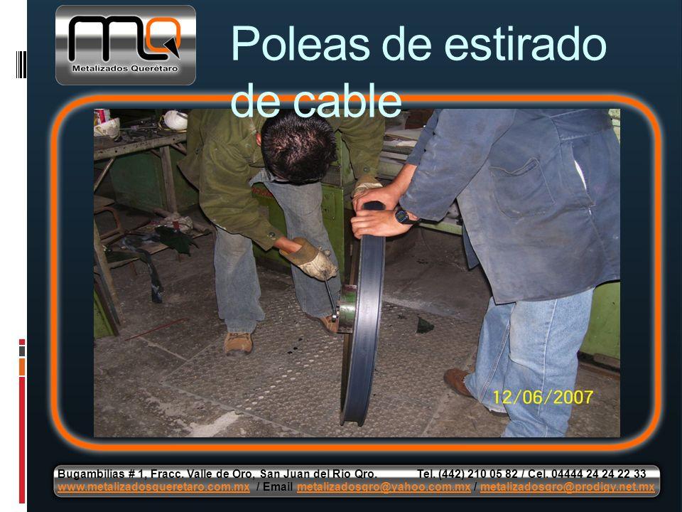 Poleas de estirado de cable