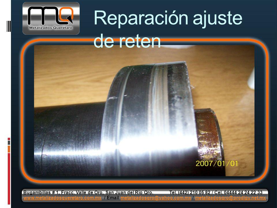 Reparación ajuste de reten