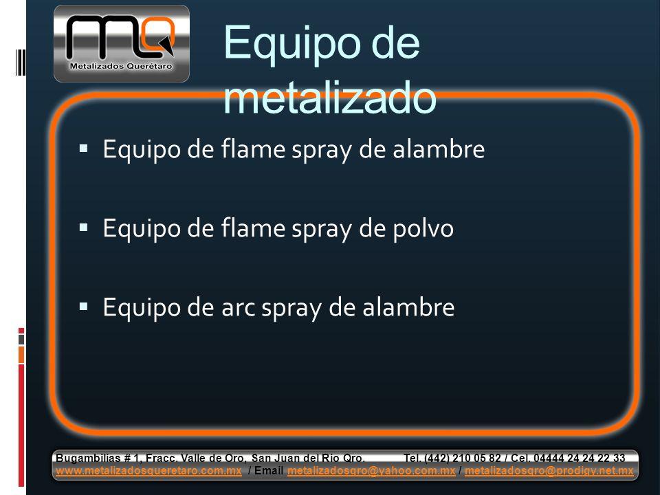 Equipo de metalizado Equipo de flame spray de alambre