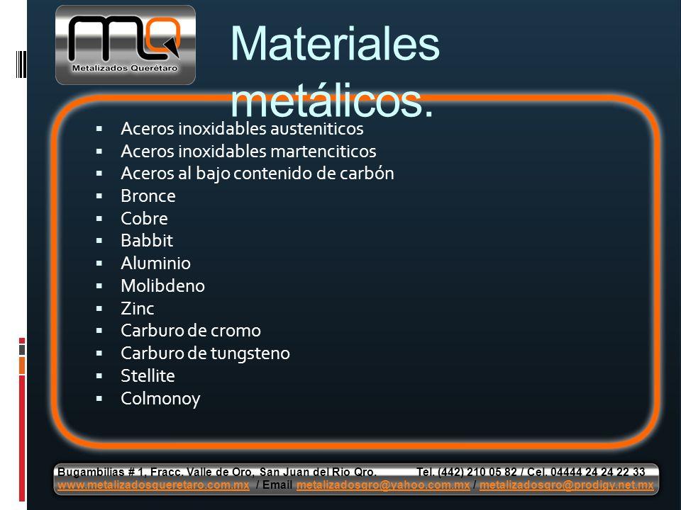 Materiales metálicos. Aceros inoxidables austeniticos