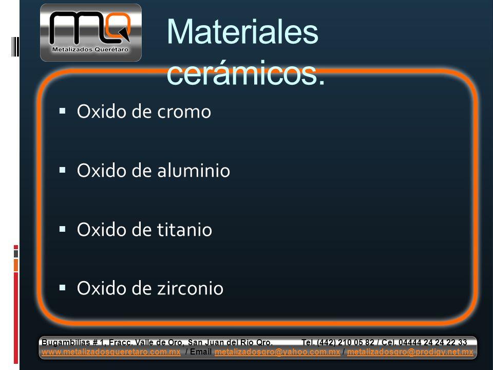 Materiales cerámicos. Oxido de cromo Oxido de aluminio