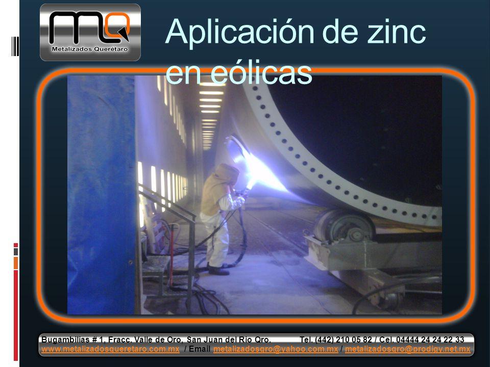 Aplicación de zinc en eólicas