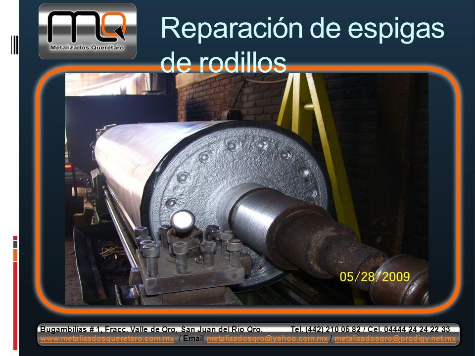 Reparación de espigas de rodillos