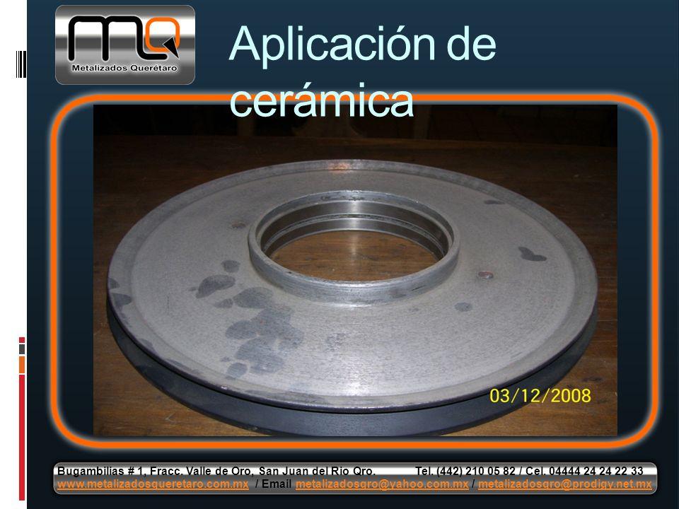 Aplicación de cerámica