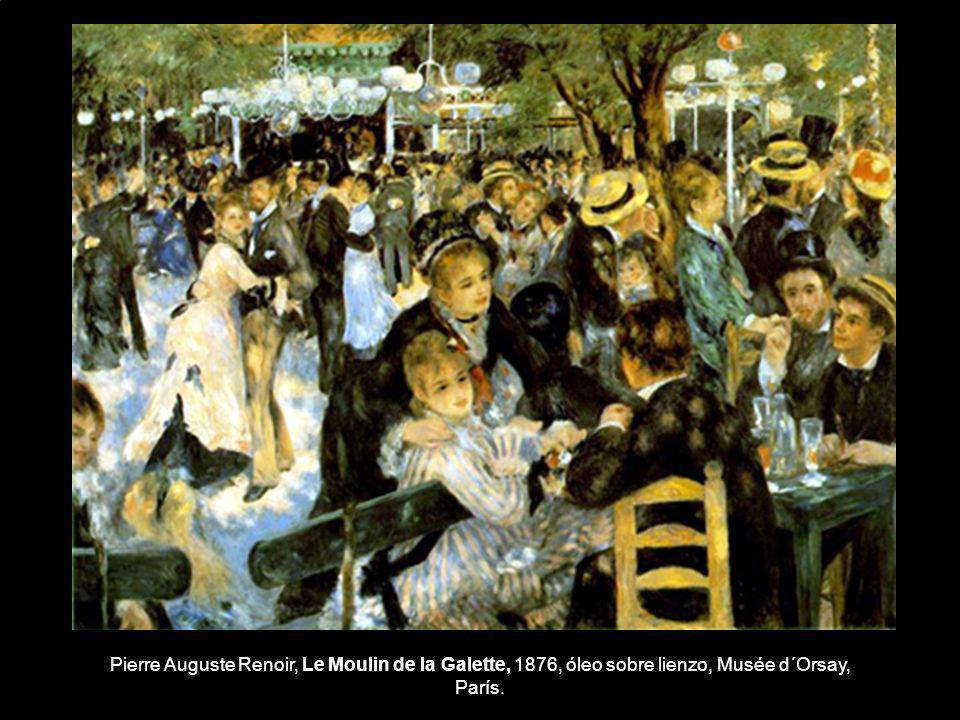 Pierre Auguste Renoir, Le Moulin de la Galette, 1876, óleo sobre lienzo, Musée d´Orsay, París.