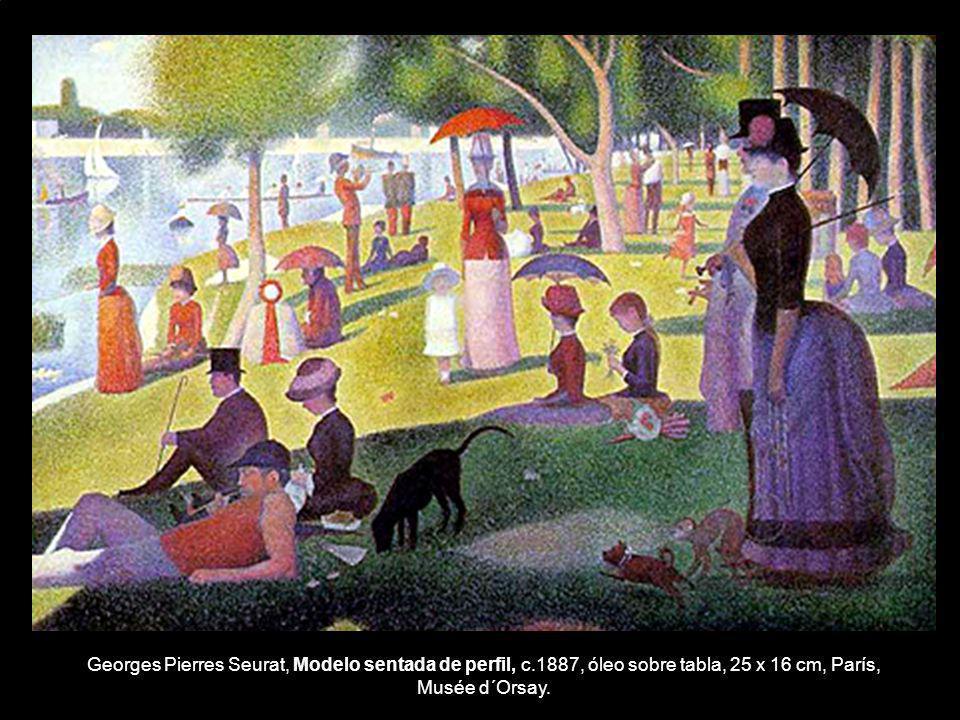 Georges Pierres Seurat, Modelo sentada de perfil, c