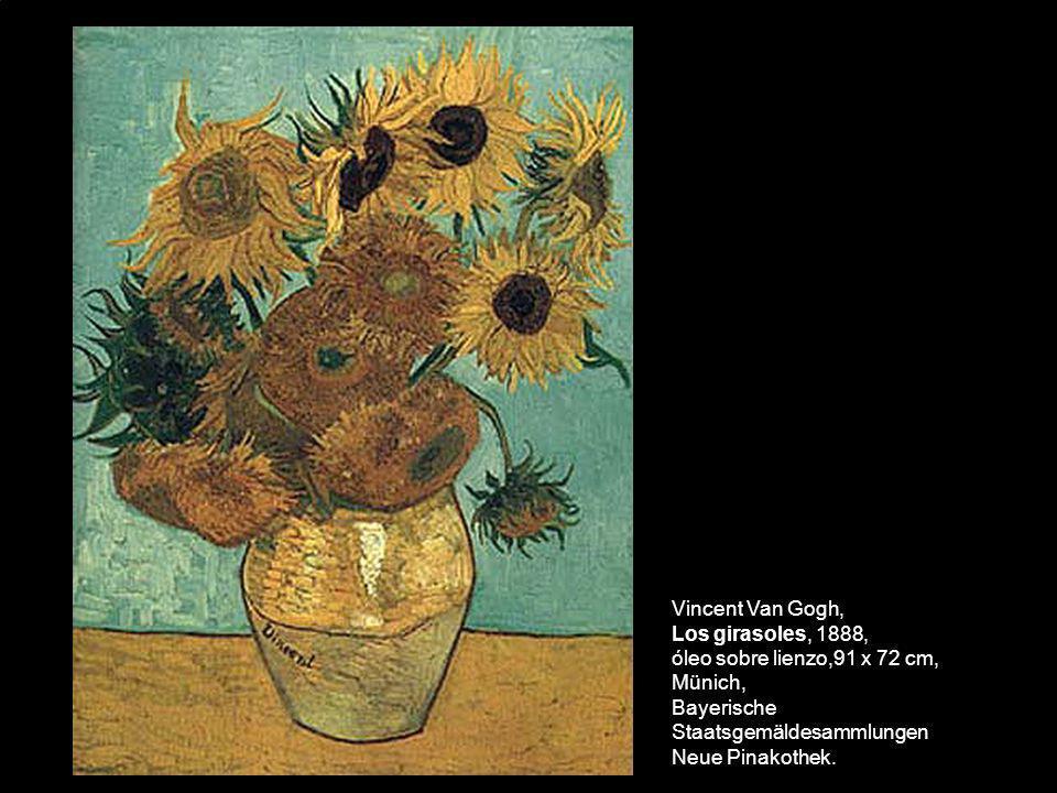 Vincent Van Gogh, Los girasoles, 1888, óleo sobre lienzo,91 x 72 cm, Münich, Bayerische Staatsgemäldesammlungen Neue Pinakothek.