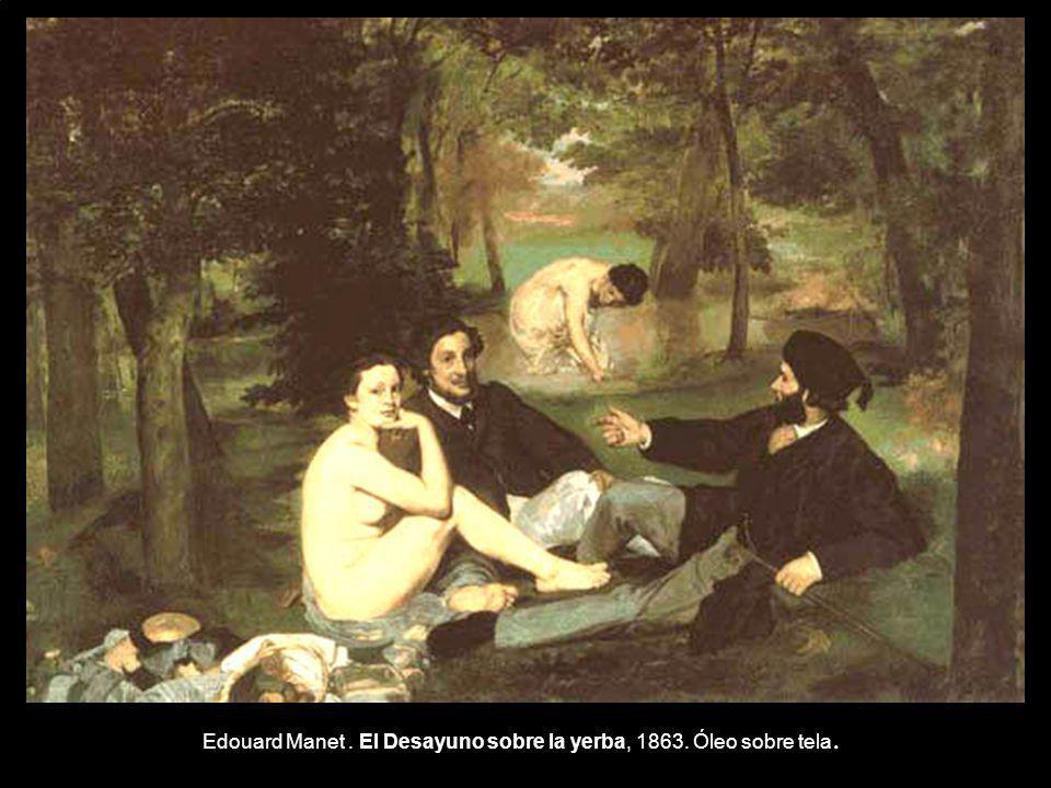 Edouard Manet . El Desayuno sobre la yerba, 1863. Óleo sobre tela.