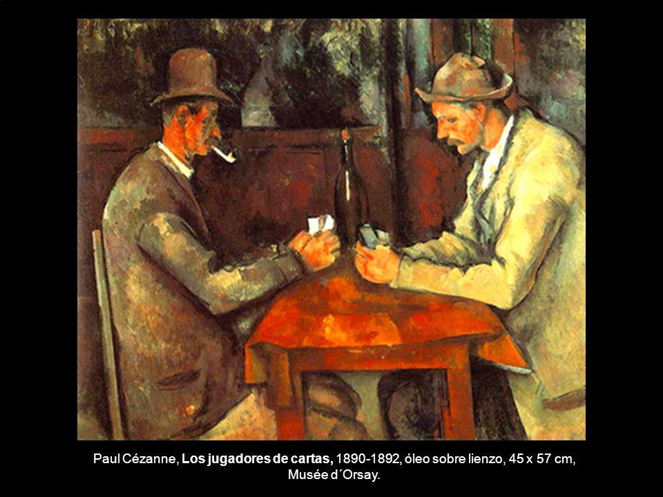 Paul Cézanne, Los jugadores de cartas, 1890-1892, óleo sobre lienzo, 45 x 57 cm, Musée d´Orsay.