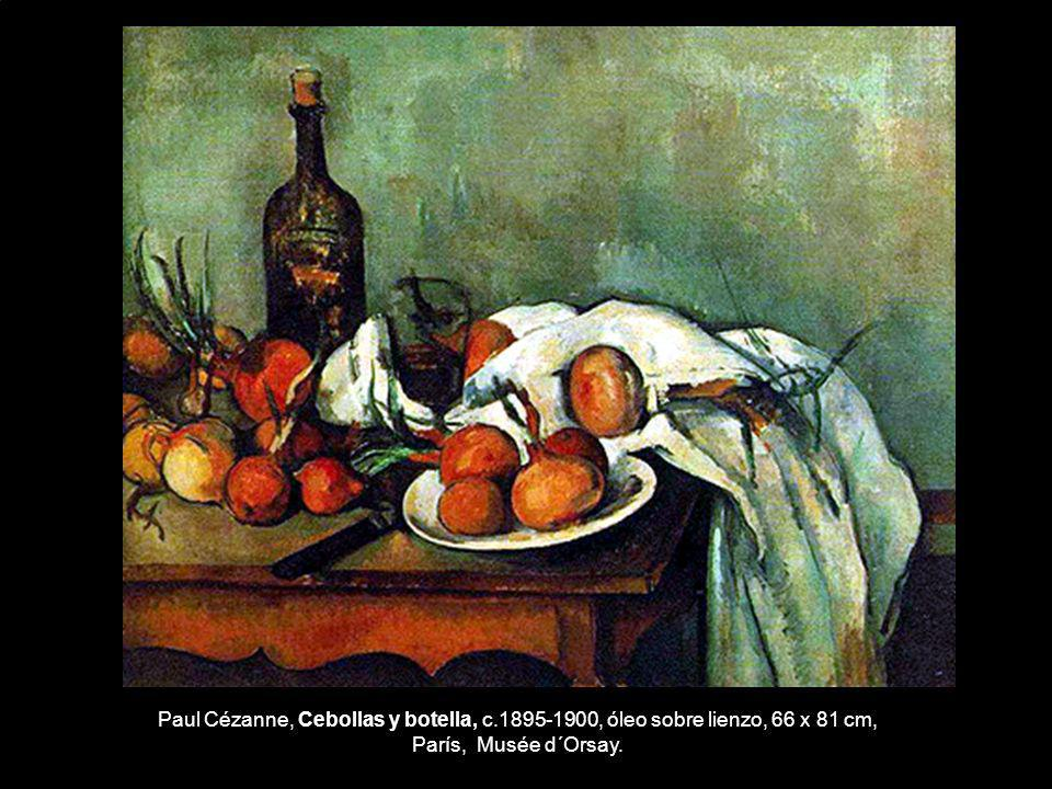 Paul Cézanne, Cebollas y botella, c