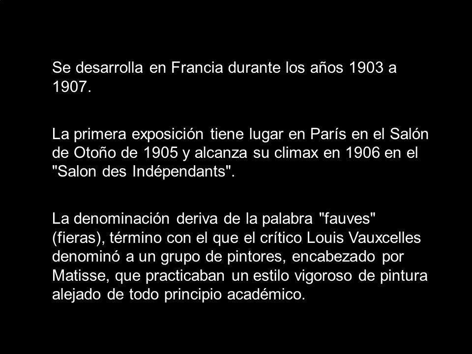 Se desarrolla en Francia durante los años 1903 a 1907.