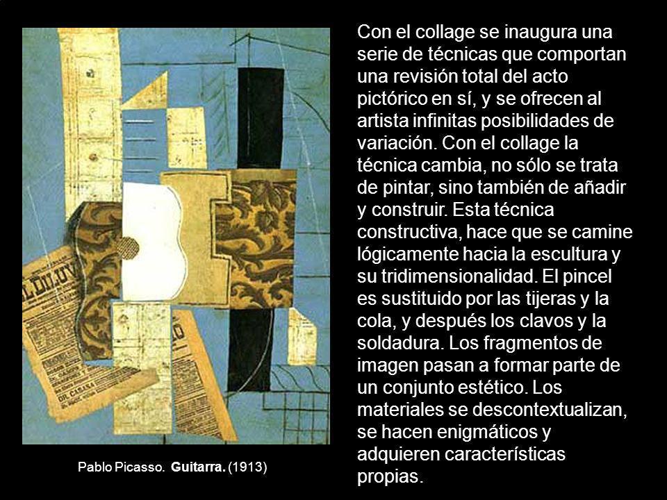 Pablo Picasso. Guitarra. (1913)