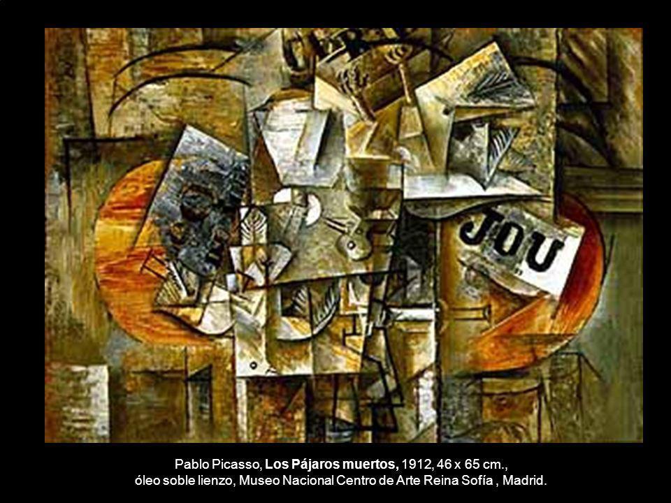 Pablo Picasso, Los Pájaros muertos, 1912, 46 x 65 cm