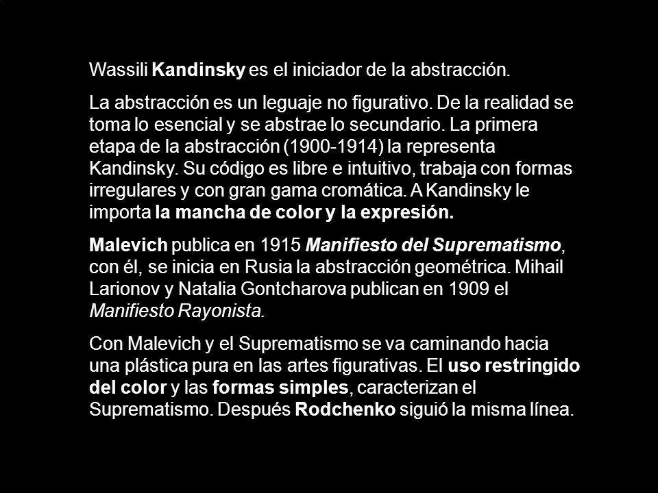 Wassili Kandinsky es el iniciador de la abstracción.