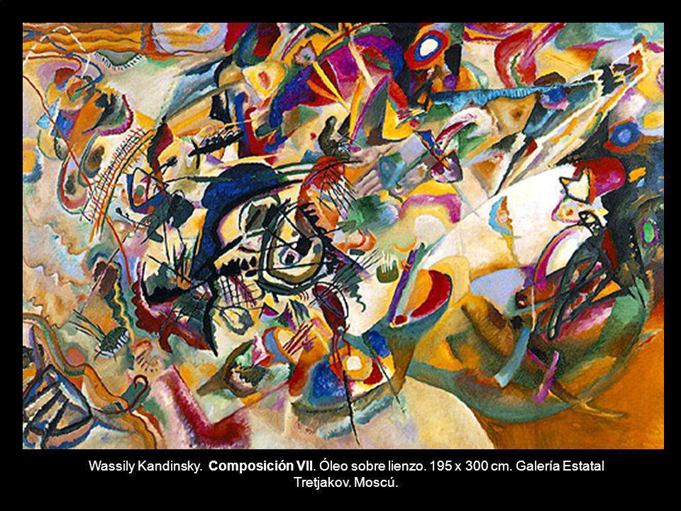 Wassily Kandinsky. Composición VII. Óleo sobre lienzo. 195 x 300 cm