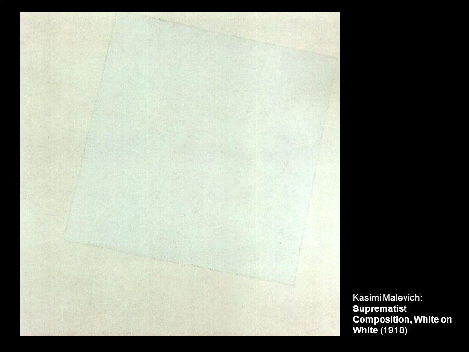 Kasimi Malevich: Suprematist Composition, White on White (1918)