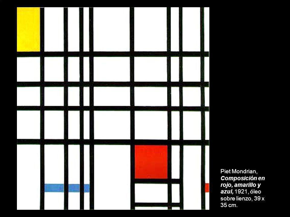 Piet Mondrian, Composición en rojo, amarillo y azul, 1921, óleo sobre lienzo, 39 x 35 cm.