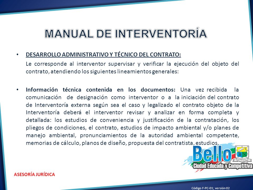 MANUAL DE INTERVENTORÍA