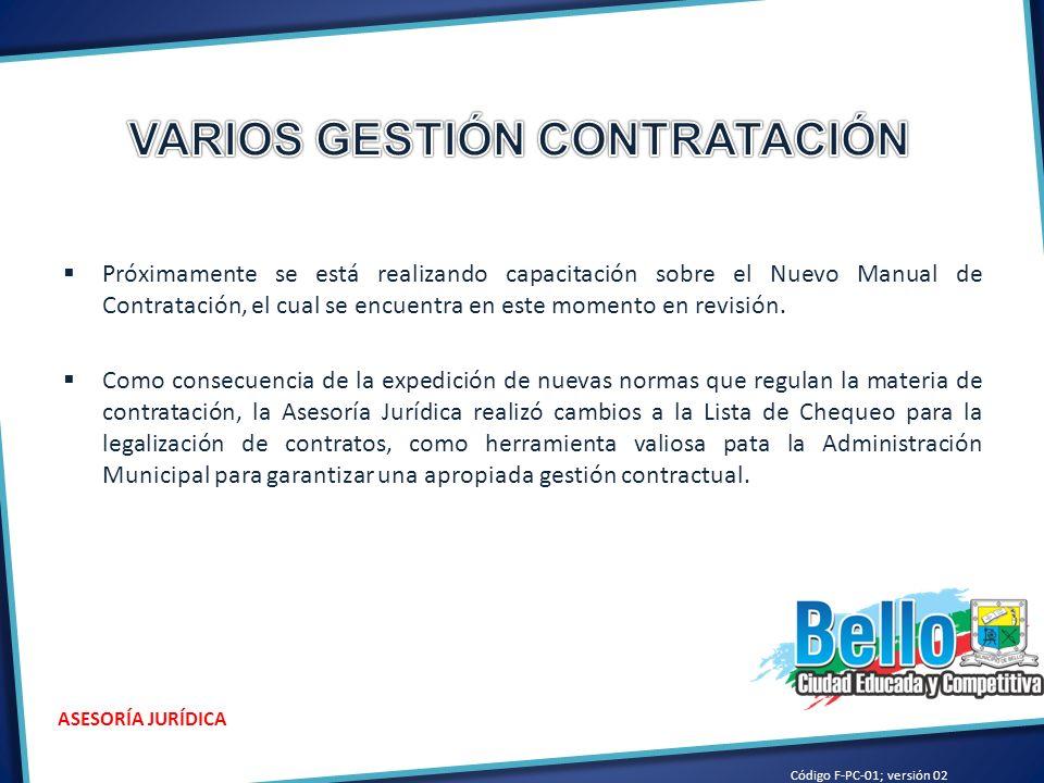 VARIOS GESTIÓN CONTRATACIÓN