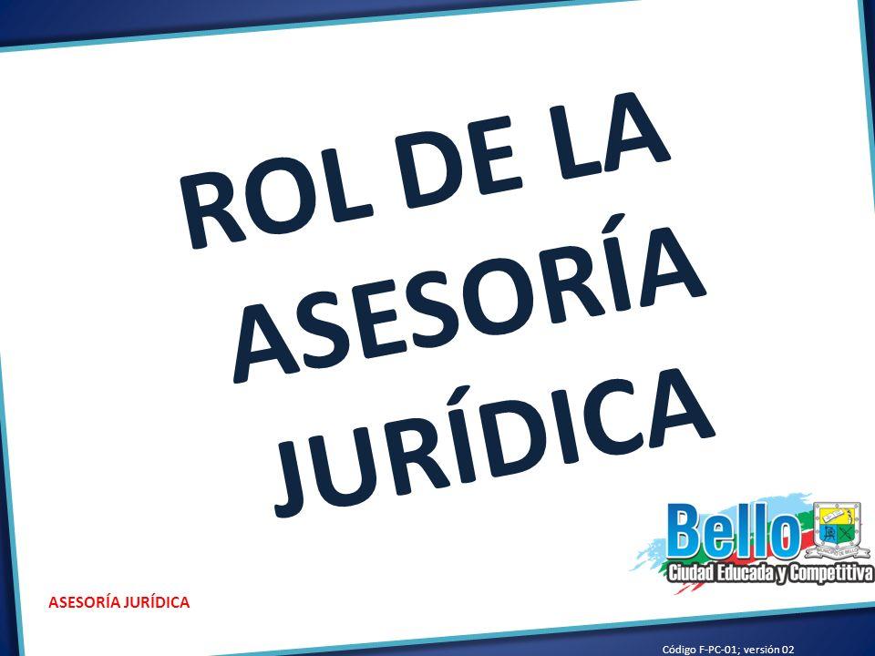 ROL DE LA ASESORÍA JURÍDICA