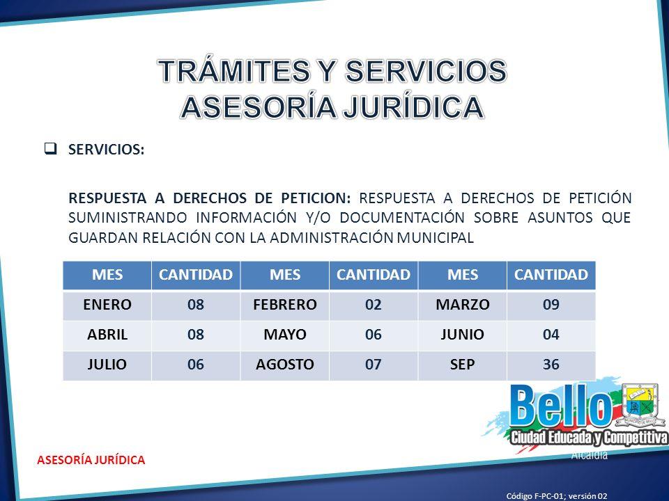 TRÁMITES Y SERVICIOS ASESORÍA JURÍDICA
