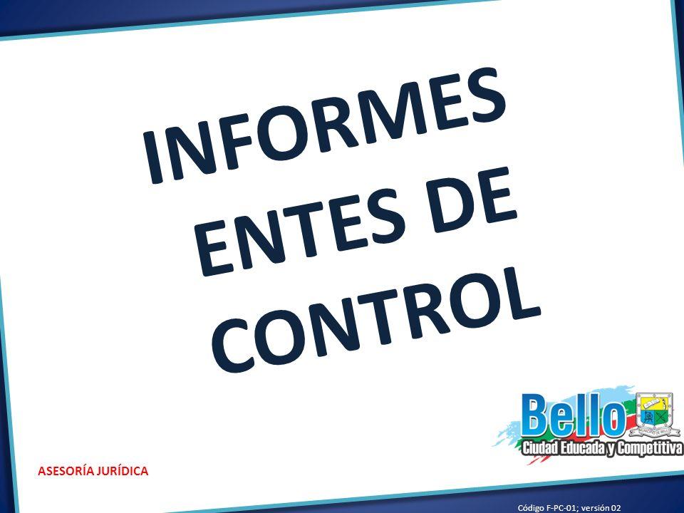 INFORMES ENTES DE CONTROL