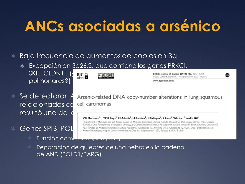ANCs asociadas a arsénico