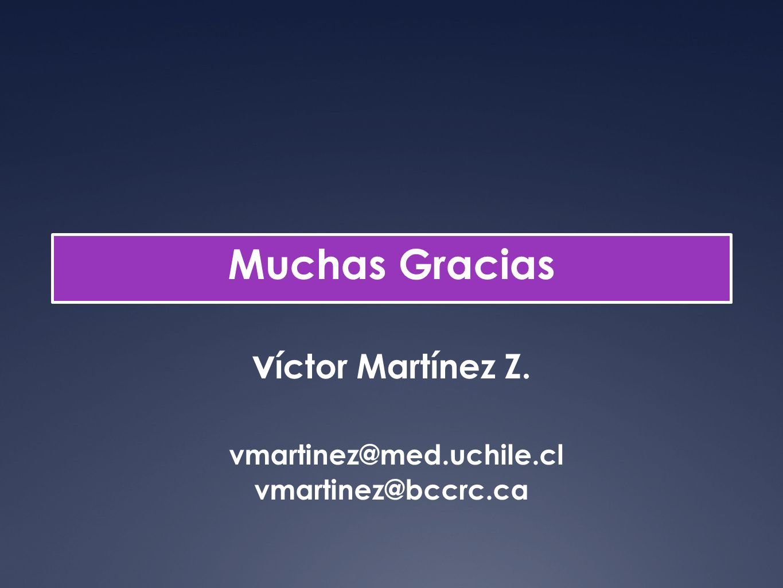 Muchas Gracias víctor Martínez Z. vmartinez@med. uchile