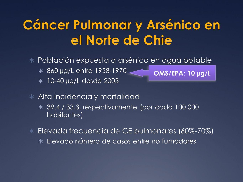 Cáncer Pulmonar y Arsénico en el Norte de Chie