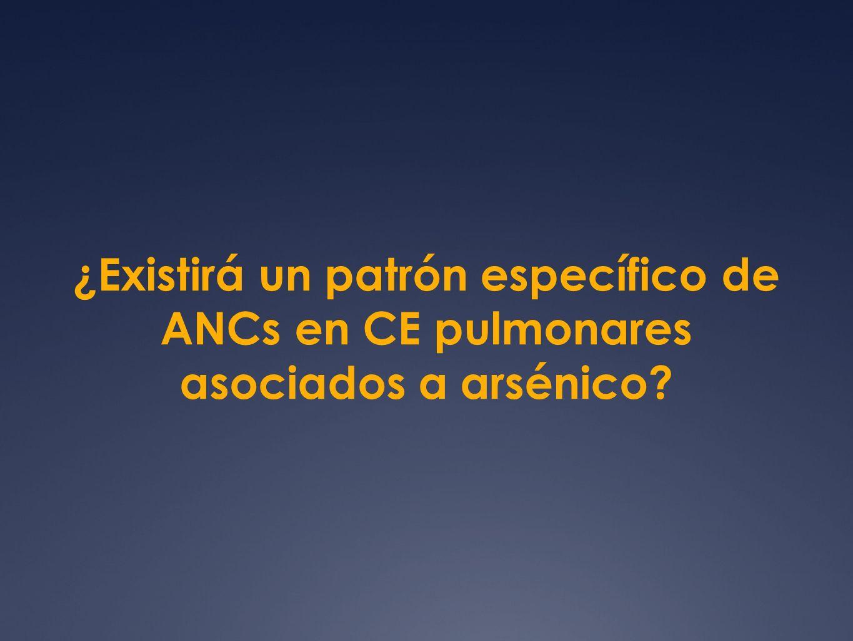 ¿Existirá un patrón específico de ANCs en CE pulmonares asociados a arsénico