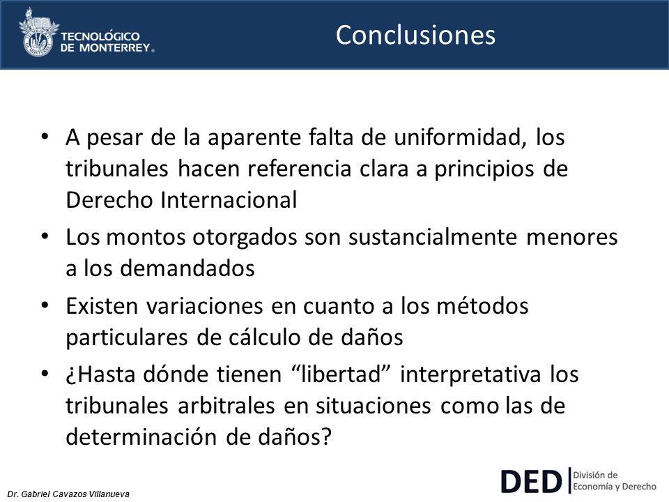 Conclusiones A pesar de la aparente falta de uniformidad, los tribunales hacen referencia clara a principios de Derecho Internacional.