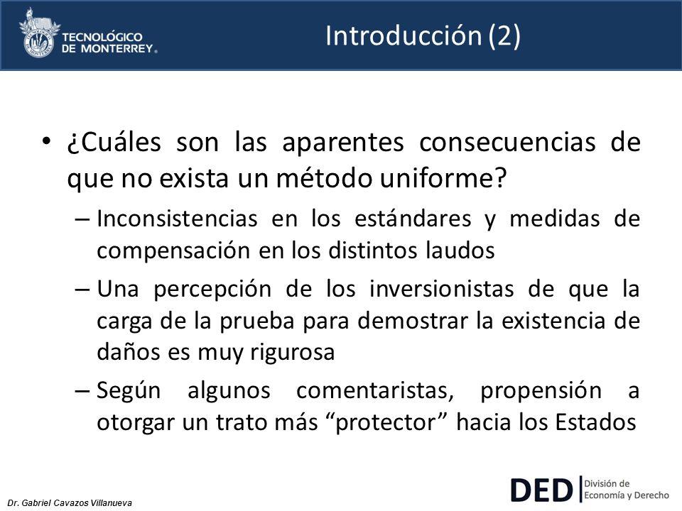 Introducción (2) ¿Cuáles son las aparentes consecuencias de que no exista un método uniforme
