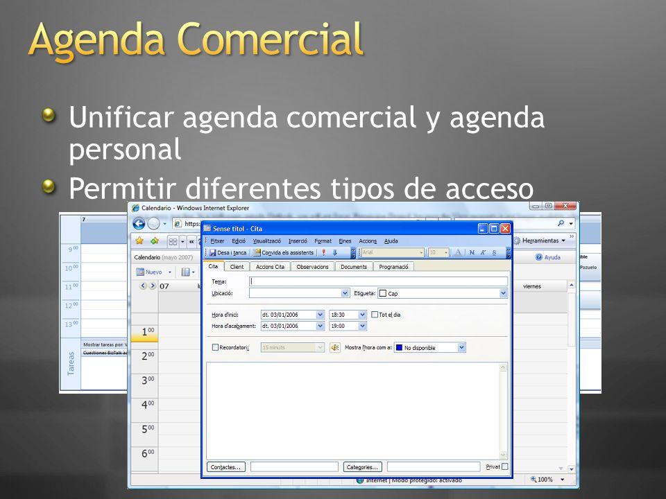 Agenda Comercial Unificar agenda comercial y agenda personal