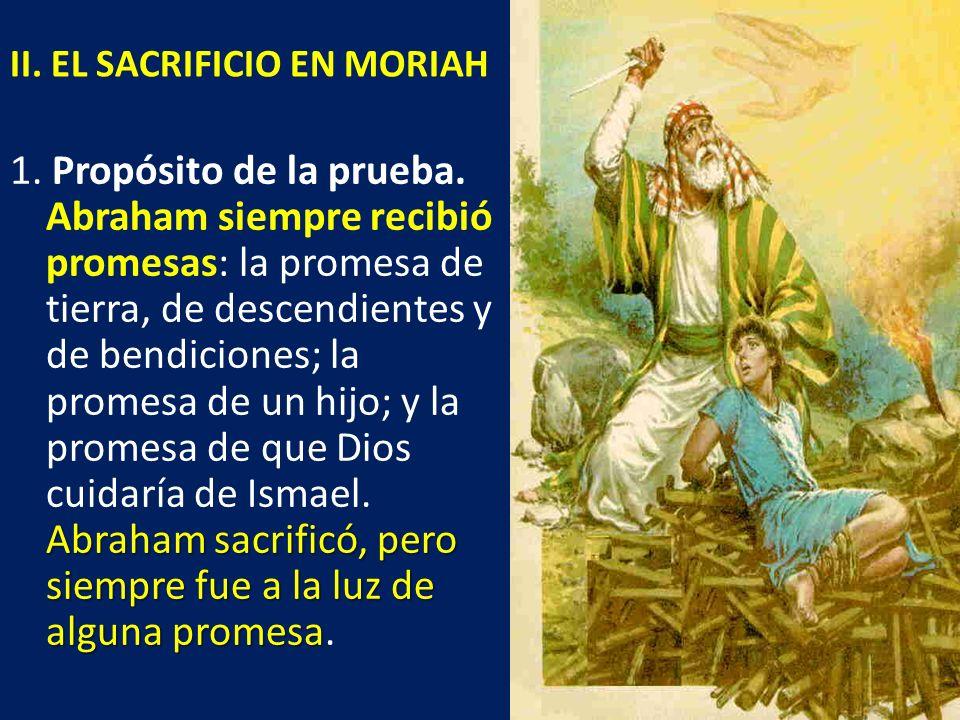 II. EL SACRIFICIO EN MORIAH