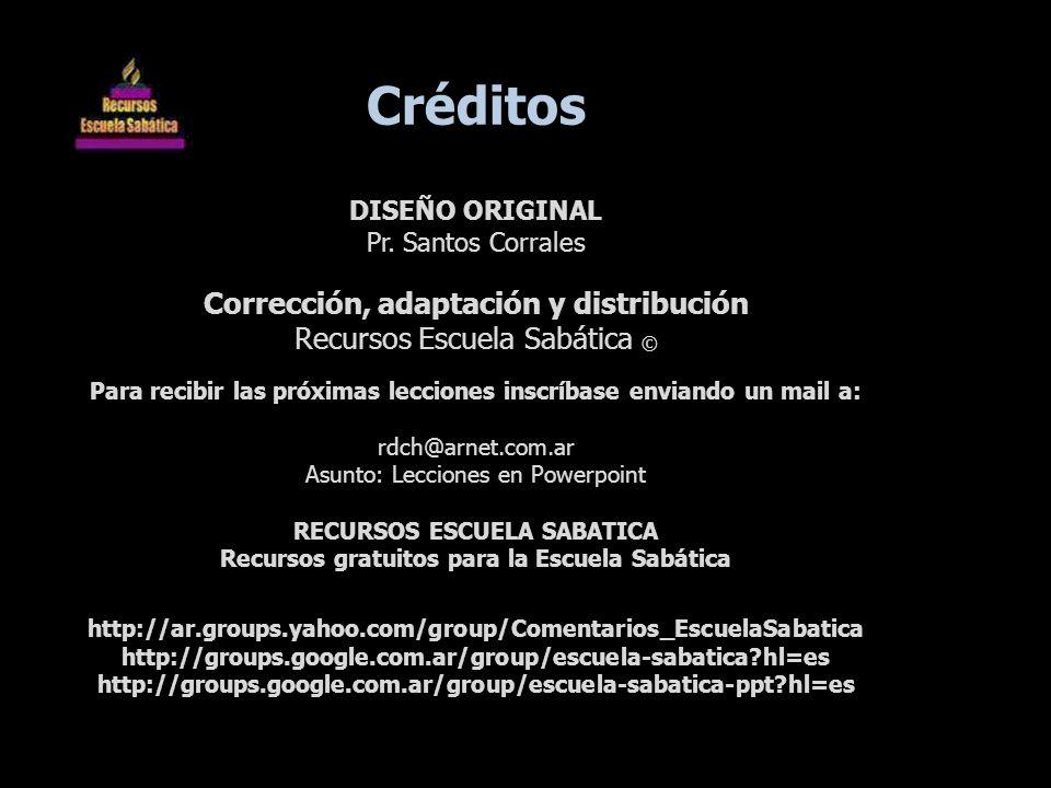 Créditos Corrección, adaptación y distribución