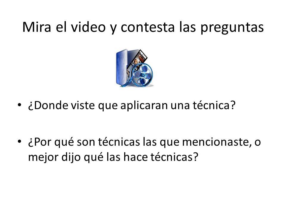 Mira el video y contesta las preguntas