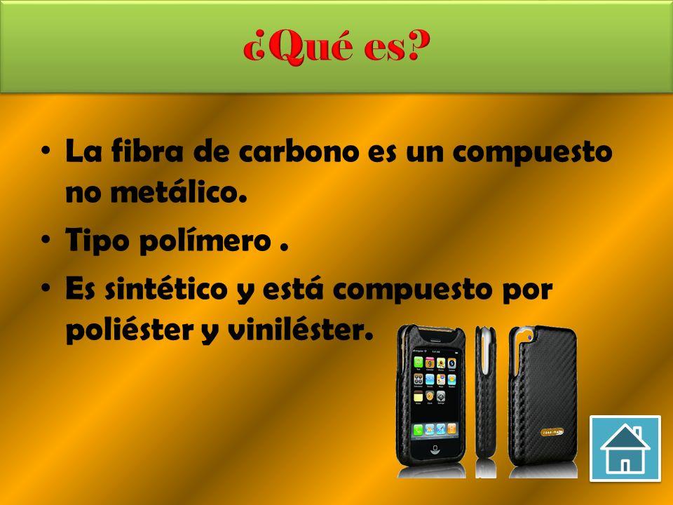 ¿Qué es La fibra de carbono es un compuesto no metálico.