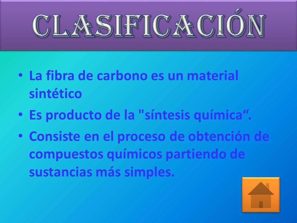 CLASIFICACIÓN La fibra de carbono es un material sintético