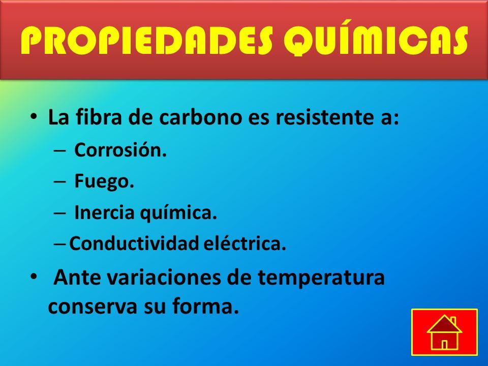 PROPIEDADES QUÍMICAS La fibra de carbono es resistente a: