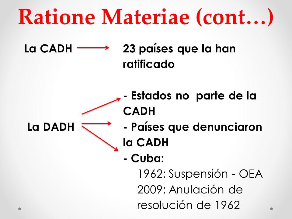 Ratione Materiae (cont…)